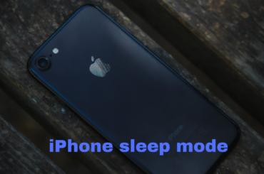 iPhone sleep mode